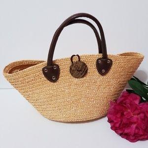 Handbags - Straw purse/beach tote